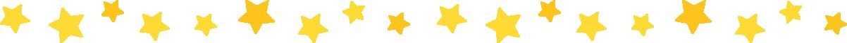 星のライン飾り罫線イラスト(黄色)