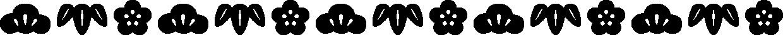 松竹梅のライン飾り罫線イラスト(シルエット)