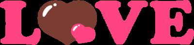 LOVEの文字イラスト(ピンク色)