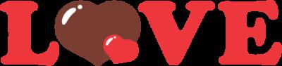 LOVEの文字イラスト(赤色)