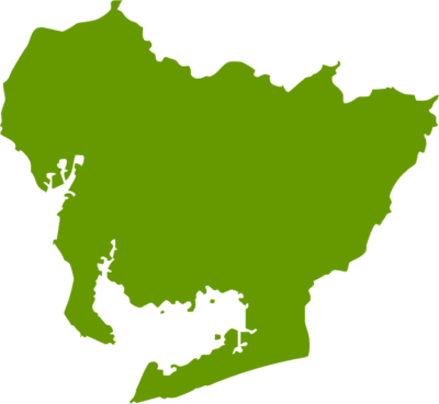 愛知県地図の無料イラストフリー素材