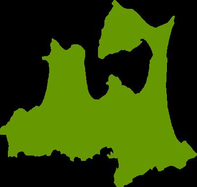 青森県地図の無料イラストフリー素材
