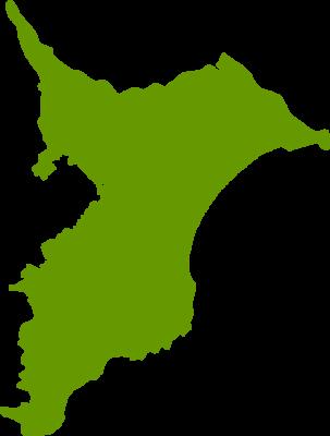 千葉県地図の無料イラストフリー素材