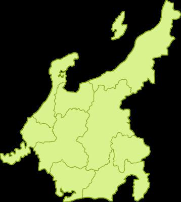 中部地方の地図イラスト