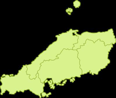 中国地方の地図イラスト