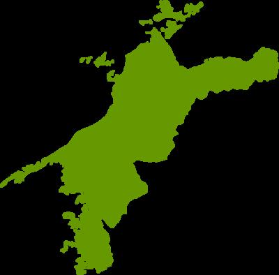 愛媛県地図の無料イラストフリー素材