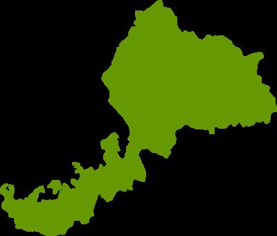 福井県地図の無料イラストフリー素材