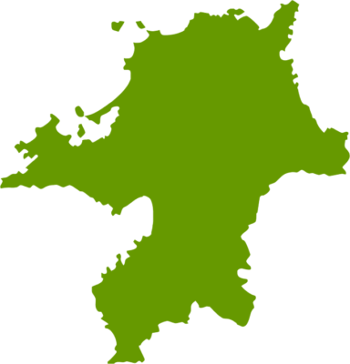 福岡県地図の無料イラストフリー素材
