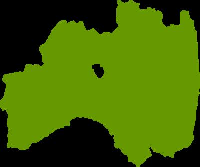 福島県地図の無料イラストフリー素材