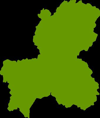 岐阜県地図の無料イラストフリー素材