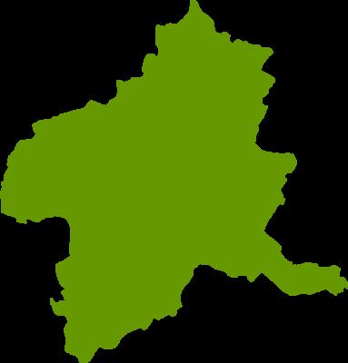 群馬県地図の無料イラストフリー素材