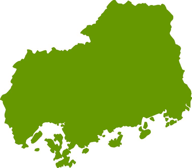 広島県地図の無料イラストフリー素材 - イラストストック