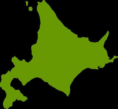 北海道地図の無料イラストフリー素材