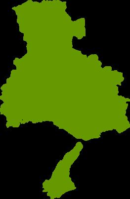 兵庫県地図の無料イラストフリー素材