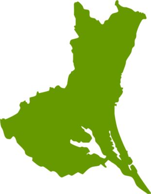 茨城県地図の無料イラストフリー素材