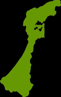 石川県地図の無料イラストフリー素材