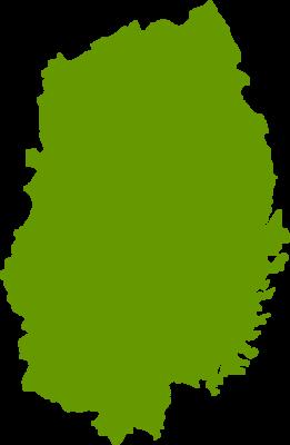 岩手県地図の無料イラストフリー素材