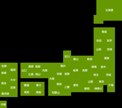 日本地図のデフォルメイラスト(都道府県名入り)