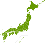 日本地図のイラスト(都道府県境界線入り)