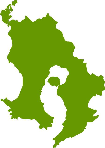鹿児島県地図の無料イラストフリー素材 イラストストック
