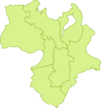 近畿地方の地図イラスト