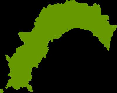 高知県地図の無料イラストフリー素材