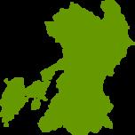熊本県地図の無料イラストフリー素材