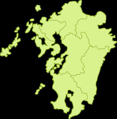 九州地方の地図イラスト