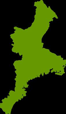 三重県地図の無料イラストフリー素材