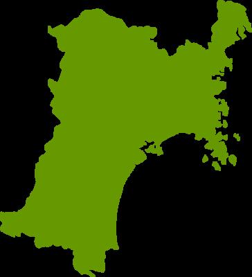 宮城県地図の無料イラストフリー素材