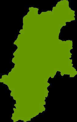 長野県地図の無料イラストフリー素材
