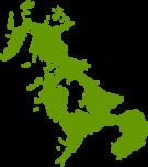 長崎県地図の無料イラストフリー素材