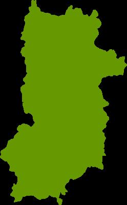 奈良県地図の無料イラストフリー素材