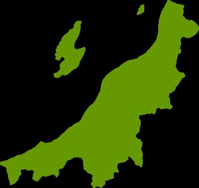 新潟県地図の無料イラストフリー素材