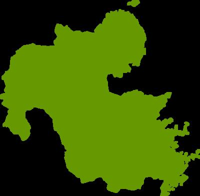 大分県地図の無料イラストフリー素材