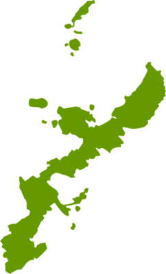 沖縄県地図の無料イラストフリー素材