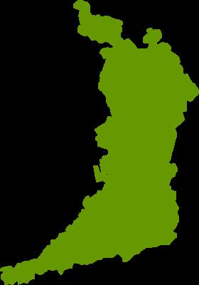 大阪府地図の無料イラストフリー素材
