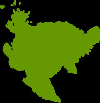 佐賀県地図の無料イラストフリー素材