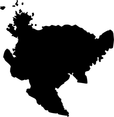 佐賀県地図の無料イラストフリー素材(モノクロ・シルエット)