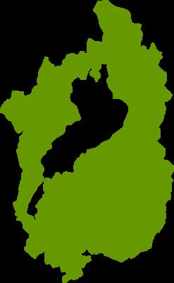 滋賀県地図の無料イラストフリー素材