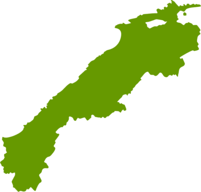 島根県地図の無料イラストフリー素材