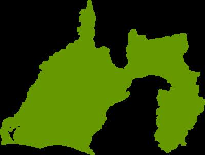 静岡県地図の無料イラストフリー素材
