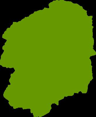 栃木県地図の無料イラストフリー素材