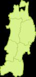 東北地方の地図イラスト