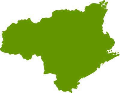 徳島県地図の無料イラストフリー素材