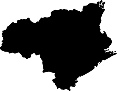 徳島県地図の無料イラストフリー素材(モノクロ・シルエット)