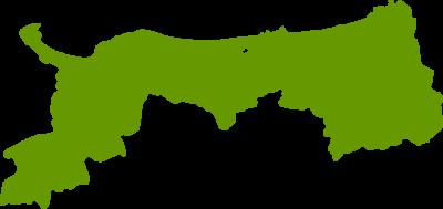 鳥取県地図の無料イラストフリー素材