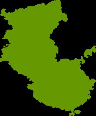 和歌山県地図の無料イラストフリー素材