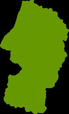 山形県地図の無料イラストフリー素材