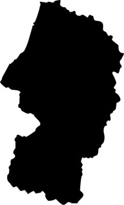 山形県地図の無料イラストフリー素材(モノクロ・シルエット)
